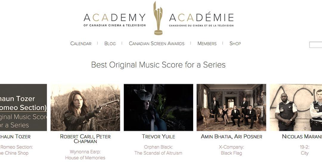 Congratulations to the in the category of Best Original Score for a Series @thecdnacademy