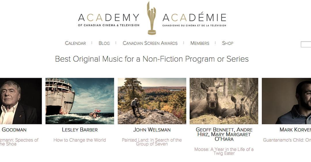 Congratulations to the who have been nominated in the Best Original Score for a Non-Fiction Program or Series category of the – @lesleybarber  John Welsman, Geoff Bennett, & Mark Korven
