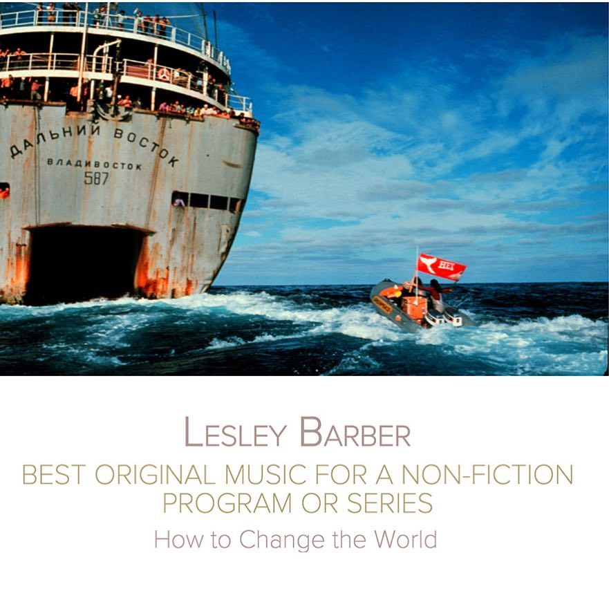 """SCGC member @lesleybarber has been nominated for a Canadian Screen Award in the category of """"Best Original Music for a Non-Fiction Program or Series""""! The nominated score is from the documentary @howtochangetheworldfilm – Congratulations"""