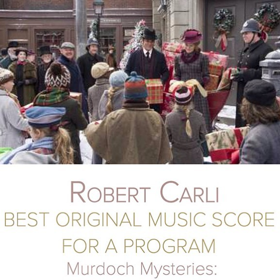 SCGC member @rcarli has received a Canadian Screen Awards nomination in the category of Best Original Score for a Program for his score to @cbcmurdoch's Christmas Special! Congratulations