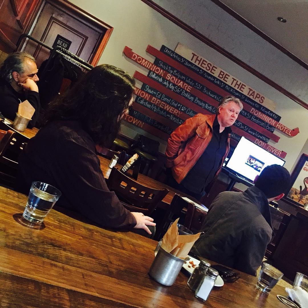 Last week our Toronto chapter hosted a member orientation and social event! Here is founding member Glenn Morley chatting with the group
