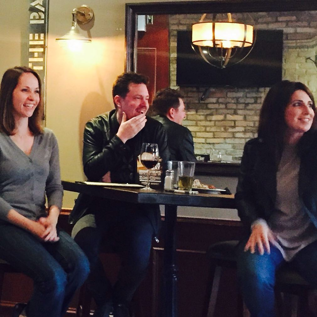 Board of Directors @janalmusic, @aelliscomposer and SCGC managing director @tonyadedrick chatting about SCGC programs at out recent composer social