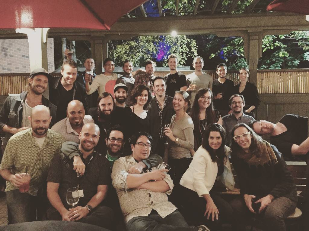 Group photo!! We're already looking forward to next year's TIFF-i-licious Composer Drinks! Thank you Darren Fung for hosting!