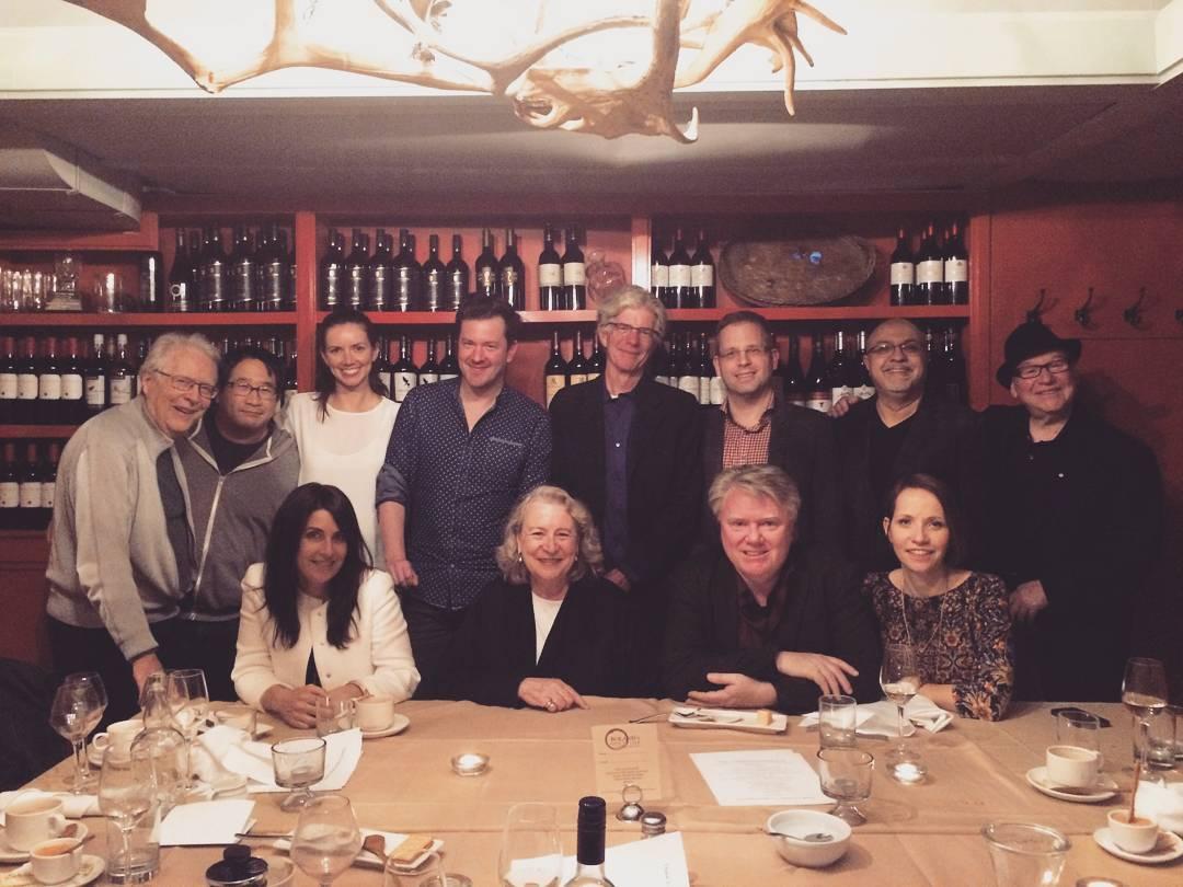 to Maria's farewell dinner with the SCGC Board of Directors! . Front row: Tonya Dedrick, Maria Topalovich, Glenn Morley, Janal Bechthold . Back Row: Victor Davies, Darren Fung, Erica Procunier, Adrian Ellis, John Welsman, Derek Treffry, Amin Bhatia, Paul Hoffert