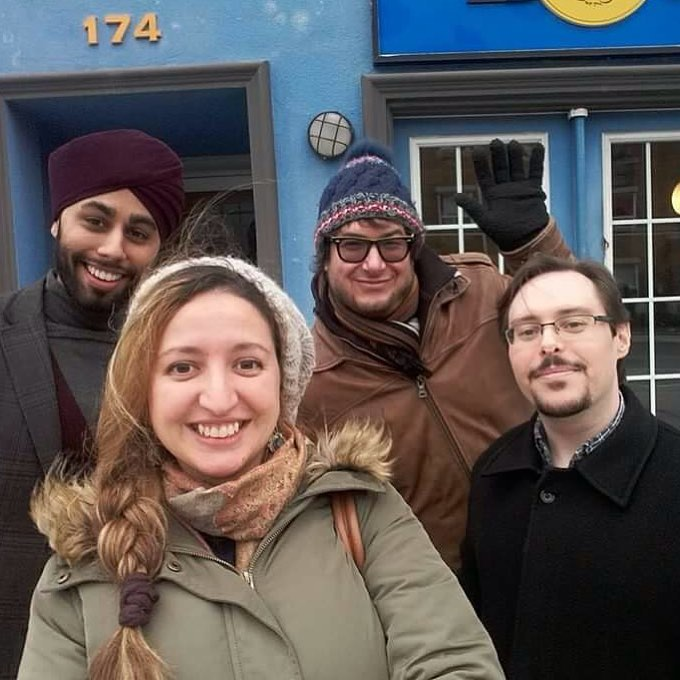 We love when screen composers from our community get together. Pictured is  @gagansinghmusic @bushnaqsuada @neilparfitt and @federmusik after a recent composer brunch