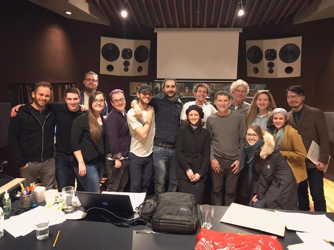The SCGC's Orchestral Reading Session was last night at @revolutionrecording! Congratulations to everyone involved – it was a great evening! Thank you to the University of Toronto Symphony Orchestra for your fantastic performance! Thank you to @uoftmusic and @cfccreates for partnering with us to facilitate this program. #composer #filmscore #recording #uoftmusic