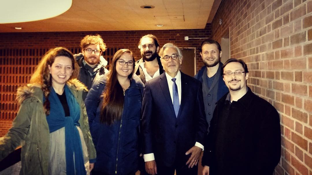 Quite a few of our Toronto based members enjoyed the talk given by Honorary SCGC member Howard Shore at @uoftmusic last night! Here's a photo of a few of them with Howard Shore afterwards. #howardshore #composer #filmscoring #filmmusic